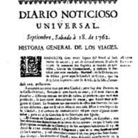 Descripción viaje a Lanzarote en 1762.